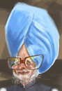 Cartoon: Manmohan Sighn (small) by zsoldos tagged india,president