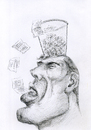 Cartoon: recycled thoughts (small) by Shareni tagged speech,fraud,demagogy