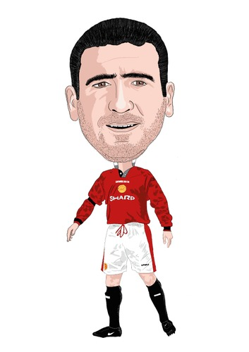 Cartoon: Cantona Man United (medium) by Vandersart tagged manchester,united,cartoons,caricatures