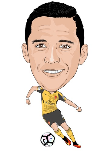 Cartoon: Sanchez Arsenal 2 (medium) by Vandersart tagged arsenal,cartoons,caricatures