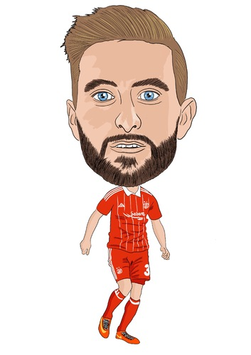 Cartoon: Shinnie Aberdeen (medium) by Vandersart tagged aberdeen,cartoons,caricatures