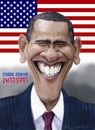 Cartoon: Barack Obama (small) by Fred Makubuya tagged obama libya north africa war politics usa happy president