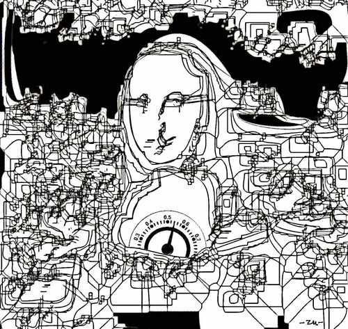 Cartoon: Mona Lisa (medium) by zu tagged mona,lisa