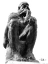 Cartoon: The Thinker (small) by zu tagged thinker,monkey,rodin
