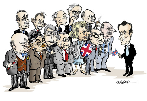 Cartoon: British Prime Ministers (medium) by jeander tagged attlee,clement,eden,anthony,douglashome,alec,blair,tony,macmillan,cameron,david,heath,ted,edward,callaghan,jim,james,thatcher,margaret,wilson,harold,major,john,brown,gordon,churchill,winston,sir,britain,great,gb,primeminister,pm,großbritanien,england,politiker