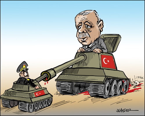 Cartoon: Turkey coup (medium) by jeander tagged erdogan,turkey,military,coup,erdogan,turkey,military,coup