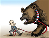 Cartoon: Putins pet (small) by jeander tagged putin,president,russia,election,support,demonstrations