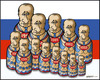 Cartoon: Russian Politics (small) by jeander tagged russia,united,party,putin,electin,president