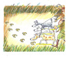 Cartoon: hunting (small) by rakbela tagged euro hunting dog