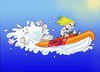 Cartoon: Manic RIB Racer (small) by andybennett tagged fms,falmouth,marine,school
