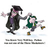 Cartoon: Pathos (small) by andybennett tagged andy,bennett,teachers,education,pathos,three,musketeers,schoolmaster,school