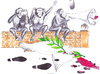 Cartoon: dove of peace and three monkeys (small) by erdemaydn tagged peace,three,monkeys