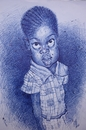 Cartoon: MACUMBA FROM SENEGAL (small) by GOYET tagged senegal kit girl cartoon