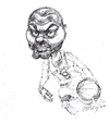 Cartoon: Tony Parker (small) by yllifinearts tagged basketball,player,san,antonio,spurs,nba,playoffs,2014
