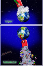 Cartoon: future of our world (small) by hakanipek tagged future,world,today,tomorrow