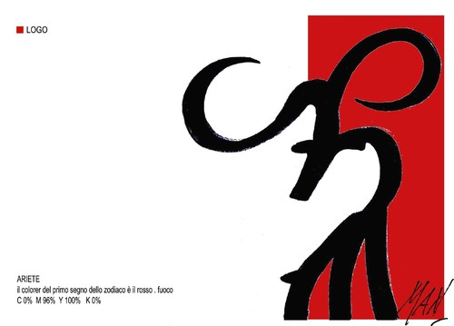 Cartoon: grafica zodiacale ARIETE (medium) by Enzo Maneglia Man tagged asriete,segno,zodiacale,man,maneglia