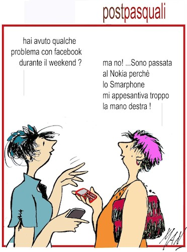Cartoon: post pasquali (medium) by Enzo Maneglia Man tagged vignette,spilli,umorismo,cassonettari,maneglia,man,fighillearte