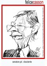 Cartoon: Casson (small) by Enzo Maneglia Man tagged caricatura,felice,casson,senatore,dissidente,maneglia,enzo
