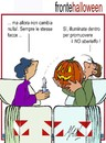 Cartoon: stesse facce (small) by Enzo Maneglia Man tagged halloween,cassonettari,di,man,maneglia,fighillearte,fronte,del,no