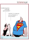 Cartoon: Super man (small) by Enzo Maneglia Man tagged vignette,umorismo,grafico,super,eroi,anniversari,spilli,fighillearte,maneglia,man
