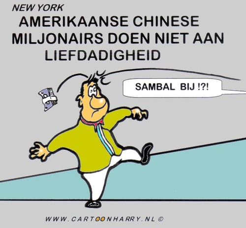 Cartoon: Amerikaanse Chinese Miljonairs (medium) by cartoonharry tagged amerika,chinese,miljonairs,sambal,cartoonharry
