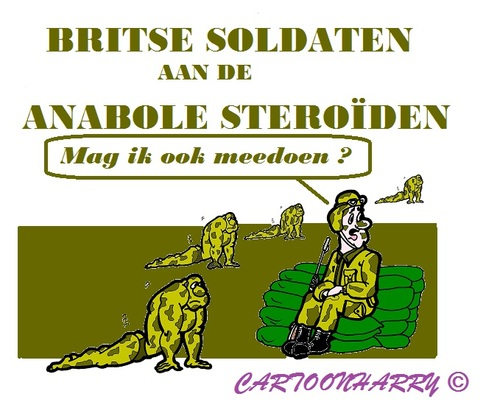 Cartoon: Anabolen Leger (medium) by cartoonharry tagged anabolen,soldaten,engeland,britten