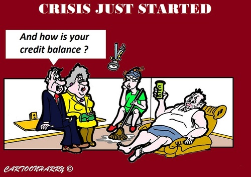 Cartoon: Crisis (medium) by cartoonharry tagged crisis,holland,cartoon,cartoonist,dutch,toonpool