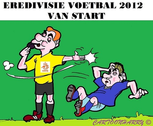 Cartoon: Eredivisie Voetbal (medium) by cartoonharry tagged eredivisie,voetbal,holland,start,cartoon,cartoonist,cartoonharry,dutch,toonpool