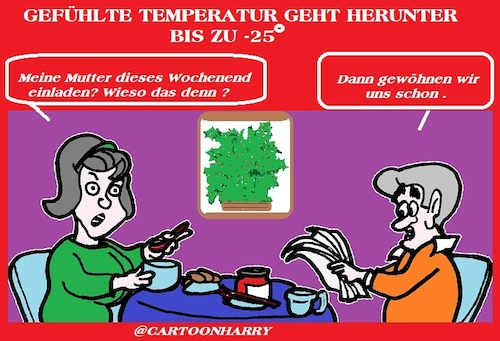 Cartoon: Gefühlte Temperatur (medium) by cartoonharry tagged temperatur,cartoonharry