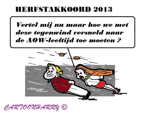 Cartoon: Herfstakkoord (medium) by cartoonharry tagged akkoord,begroting,aow