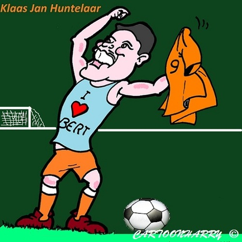 Cartoon: Klaas Jan Huntelaar (medium) by cartoonharry tagged klaasjanhuntelaar,holland,ek,voetbal,cartoon,toon,dutch,cartoonist,cartoonharry,toonpool