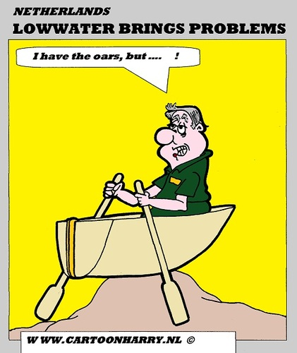 Cartoon: Lowwater Problems (medium) by cartoonharry tagged lowwater,problems,rain,sun,dry,boats,shipping,rivers,cartoon,cartoonist,cartoonharry,dutch,europ