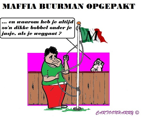 Cartoon: Maffia Buurman (medium) by cartoonharry tagged buurman,check,buren,holland,italie,maffia