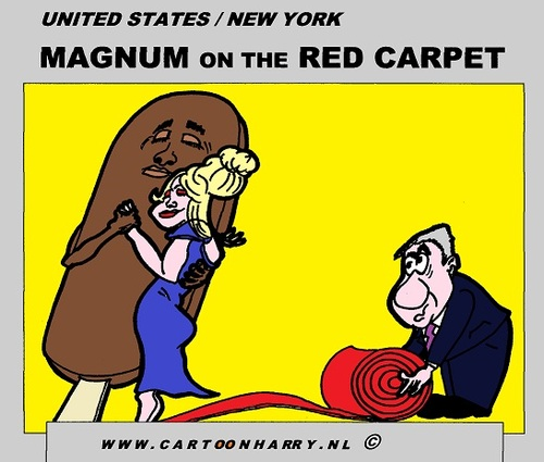 Cartoon: Magnum To USA (medium) by cartoonharry tagged deviantart,buurtlink,linkedin,hyves,toonsup,toonpool,tasty,dutch,cartoonharry,cartoonist,drawing,arts,art,artist,comics,comix,comic,cartoon,usa,magnum,carpet,red