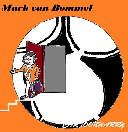 Cartoon: Mark van Bommel (medium) by cartoonharry tagged vanbommel,markvanbommel,interland,voetbal,karikatuur,holland,cartoonist,cartoonharry,dutch,toonpool