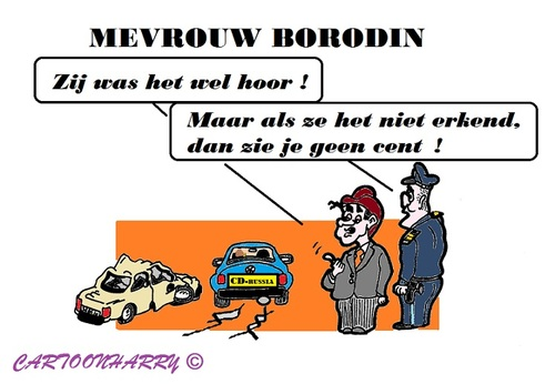 Cartoon: Mevrouw Borodin (medium) by cartoonharry tagged rusland,diplomaat,borodin,onschendbaar,denhaag