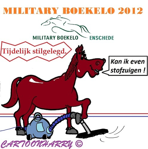 Cartoon: Military Boekelo 2012 (medium) by cartoonharry tagged military,2012,paard,stofzuigen,boekelo,enschede,cartoon,cartoonist,dutch,cartoonharry,toonpool