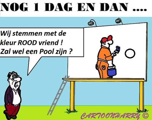 Cartoon: Nog 1 dag (medium) by cartoonharry tagged stemmen,laatste,cartoon,cartoonist,cartoonharry,dutch,toonpool