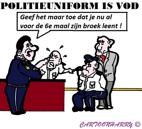 Cartoon: Politie Uniform (medium) by cartoonharry tagged politie,broek,uniform,vod,cartoon,cartoonist,cartoonharry,dutch,toonpool