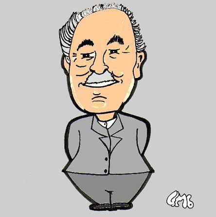 Cartoon: Prof.Dr. Bob Smalhout (medium) by cartoonharry tagged bob