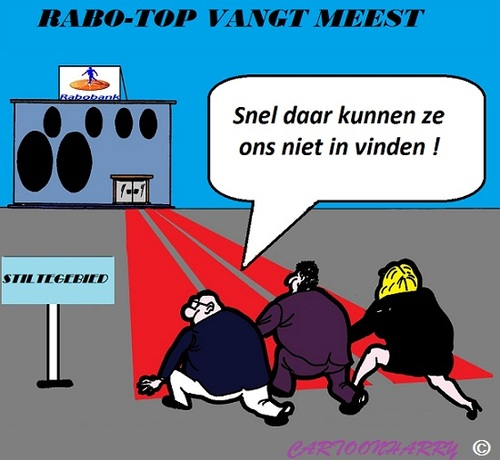 Cartoon: RABOBANK-TOP (medium) by cartoonharry tagged salaris,miljoenen,bonus,rabobank,cartoon,cartoonist,cartoonharry,dutch,holland,toonpool
