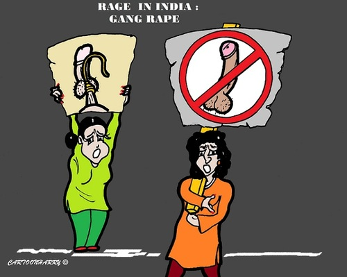 Cartoon: Rage in India (medium) by cartoonharry tagged rage,rape,india,girl,bus,driver,men,cartoon,cartoonist,cartoonharry,dutch,toonpool