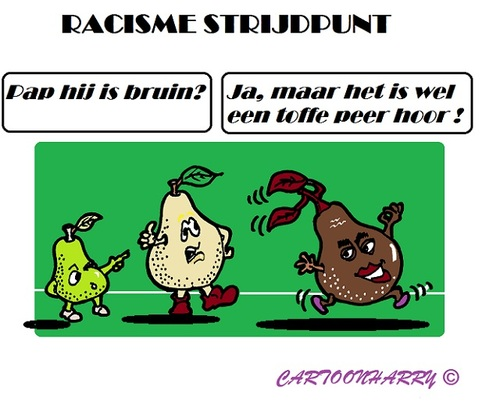 Cartoon: Sappig Racisme (medium) by cartoonharry tagged racisme