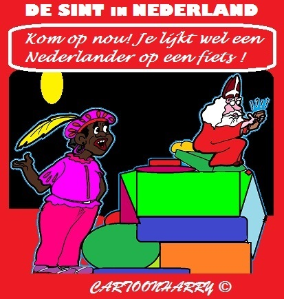Cartoon: Sint ah Werk (medium) by cartoonharry tagged nederland,sinterklaas