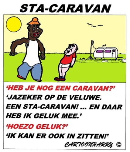 Cartoon: STA-CARAVAN (medium) by cartoonharry tagged stacaravan,zitten,veluwe,cartoon,humor,cartoonist,cartoonharry,dutch,toonpool