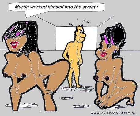 Cartoon: Sweat Work (medium) by cartoonharry tagged naked,girls,black,women