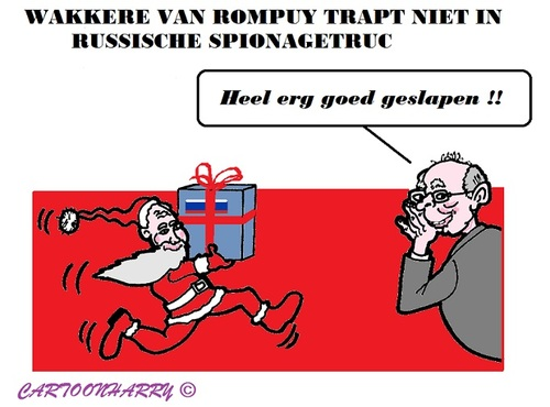 Cartoon: Van Rompuy (medium) by cartoonharry tagged putin,spy,rompuy