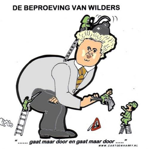 Cartoon: Wilders (medium) by cartoonharry tagged demontage