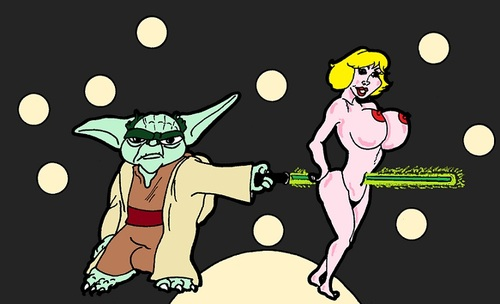 Cartoon: Yoda (medium) by cartoonharry tagged yoda,miracles,girl,cartoon,sexy,erotic,cartoonist,cartoonharry,dutch,naked,nudes,belly,butt