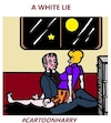 Cartoon: A White Lie (small) by cartoonharry tagged white,lie,cartoonharry